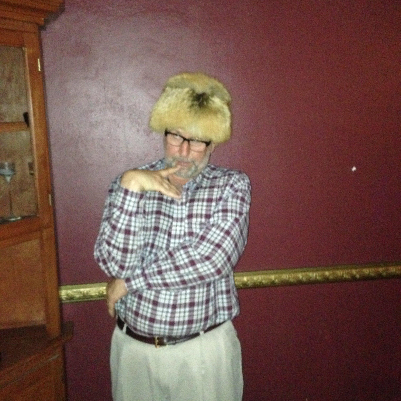 Attorney, Joel Robbins, sporting the fox hat
