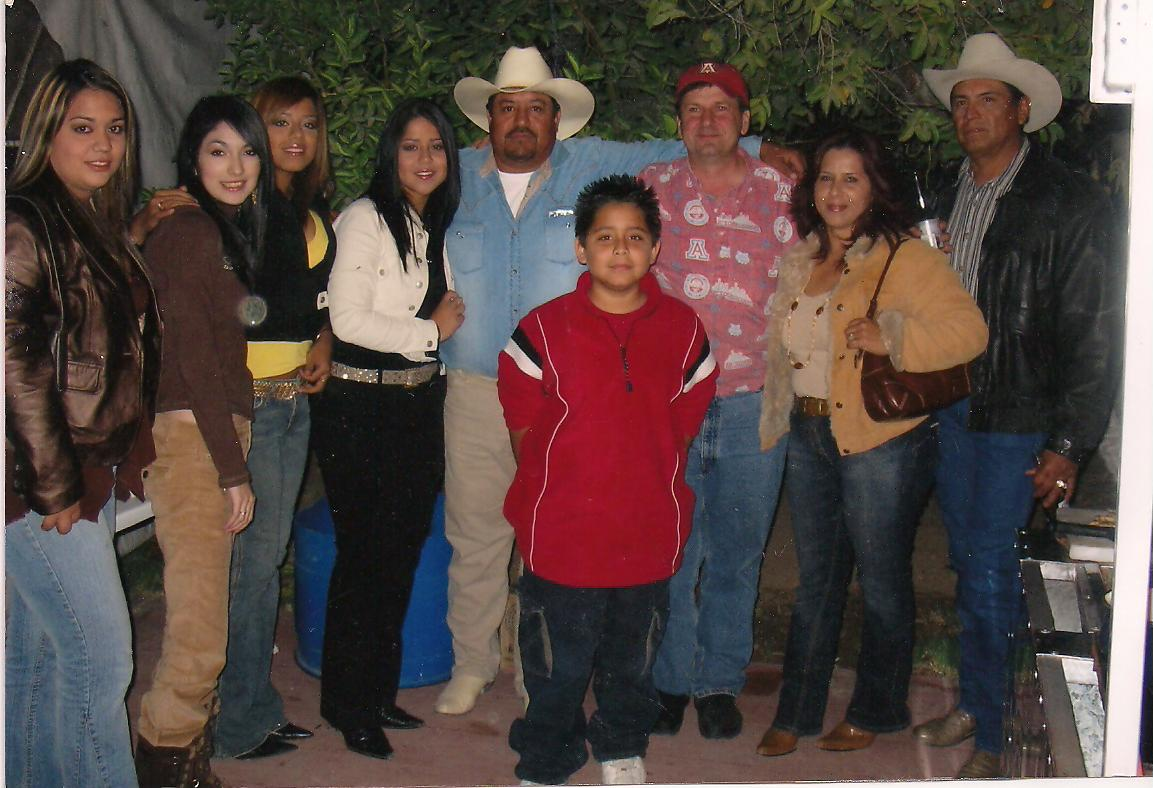 The Franco Flores family (client) with Joel Robbins
