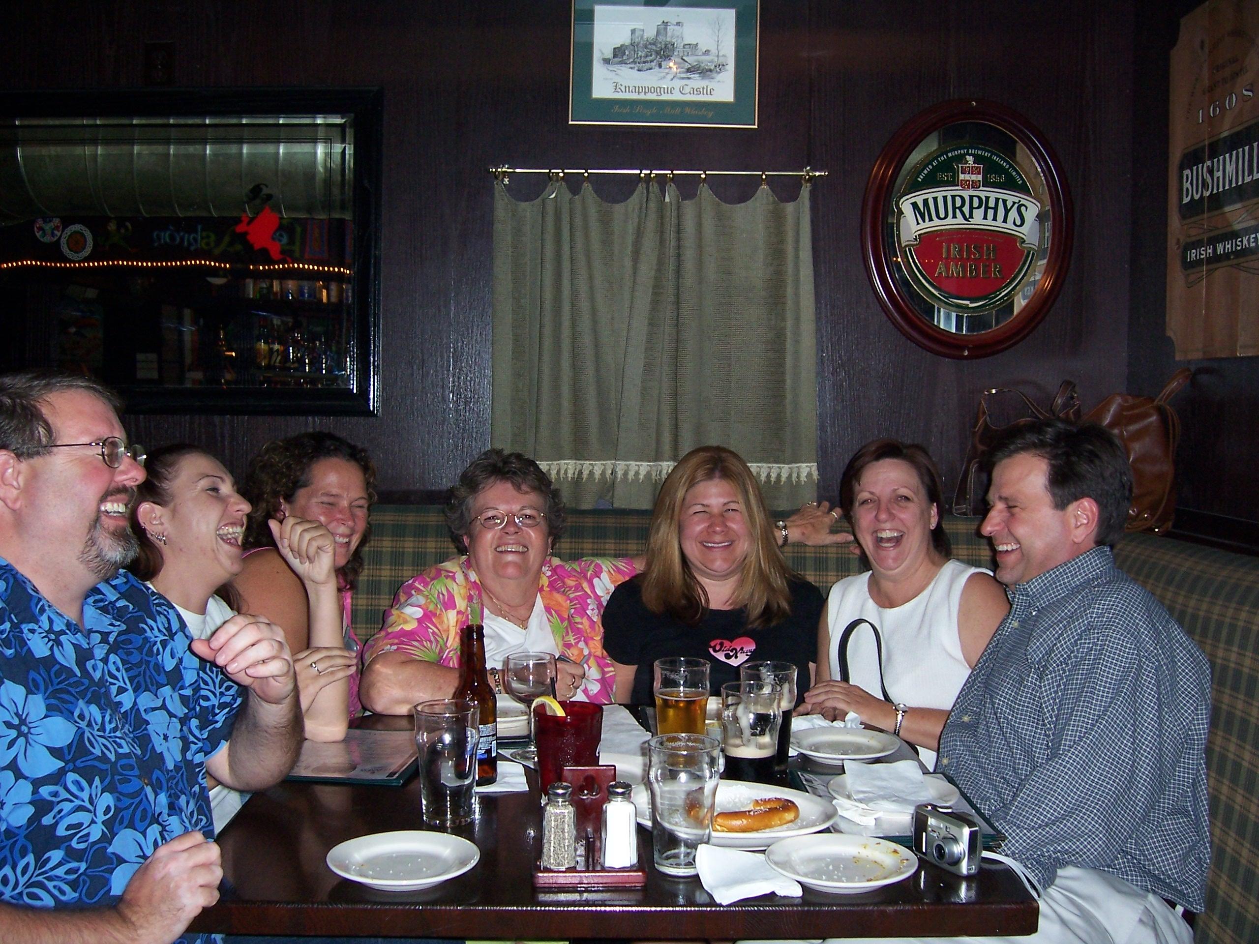 Robbins & Curtin Staff Celebrating at Rosie McCaffrey's, 2005.